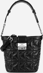 Kkuilted Studs Bucket Bag