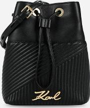 Ksignature Quilted Bucket Bag