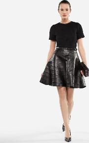 Leather And Punto Dress