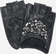 Leather Gloves With Stones