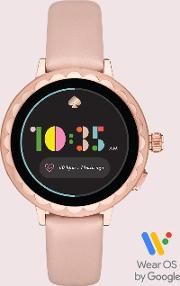 Blush Leather Scallop Smartwatch 2