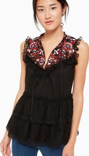Camelia Embroidered Top