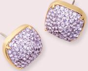 Clay Pave Small Square Studs