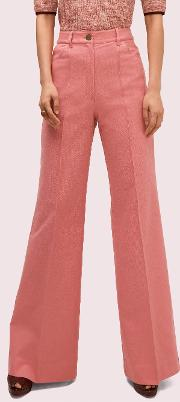 Heather Basket Weave Flare Pant