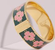 Heritage Spade Thin Floral Enamel Bangle