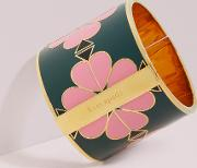 Heritage Spade Wide Floral Enamel Bangle
