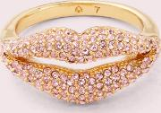 Lips Pave Statement Ring
