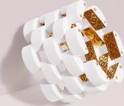 Sliced Scallops Statement Link Bracelet