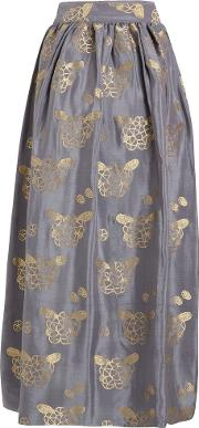 Flowers and Pine Cones georgette skirt