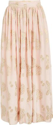 Flowers and Pine Cones georgette skirts