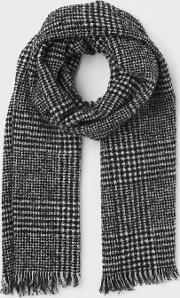 Alanna Black White Wool Scarf