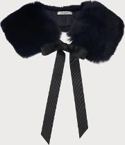 Ivonia Navy Faux Fur Scarf