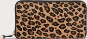 Kenza Leopard Print Calf Hair Purse