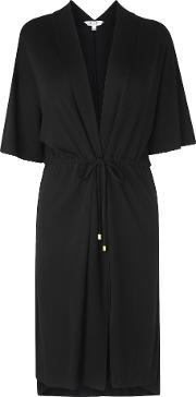 Orban Black Cotton Cover Up