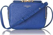 maggie blue italian leather pouch