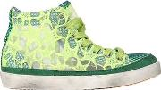 Embroidered Nylon High Top Sneakers