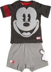 Mickey Mouse Jersey T Shirt & Shorts