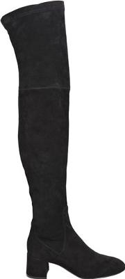 50mm Stretch Suede Over The Knee Boots