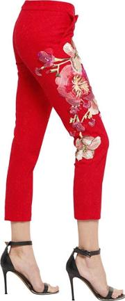 Hand Embroidered Lace Pants