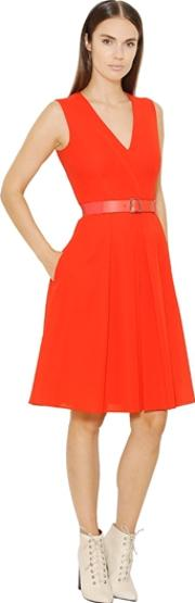 Pleated Cotton Voile Dress
