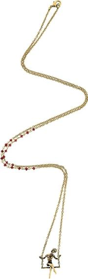 L'altalena Necklace With Garnets
