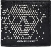 Studded Skull Leather Classic Wallet