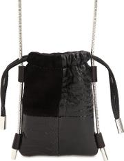Ryan Patchwork Suede & Leather Pouch