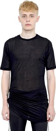 Drawstring Sides Double Jersey T Shirt