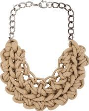 Knotted Cotton Rope Necklace