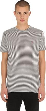 Point Crew Striped Cotton Jersey T Shirt