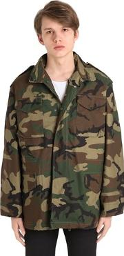 Oversized Camo Cotton Field Jacket