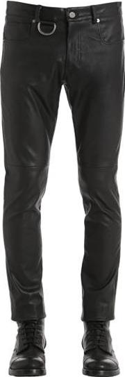 Leather Pants W D Ring Detail