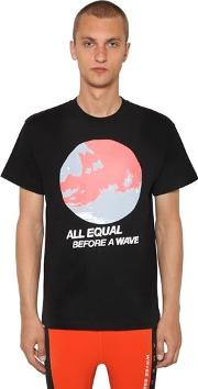 All Equal Printed Cotton Jersey T Shirt