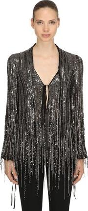 Fringe Sequined Blouse