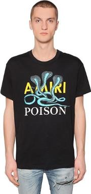 Poison Printed Cotton Jersey T Shirt