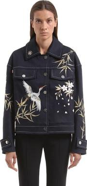 Lvr Editions Embroidered Denim Jacket