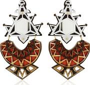 Ivory Collection Triangles Earrings