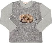 Hedgehog Printed Cotton Jersey T Shirt