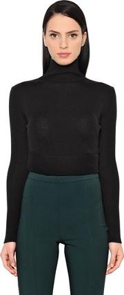 Wool & Silk Cropped Sweater