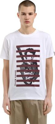 Printed Cotton Jersey T Shirt
