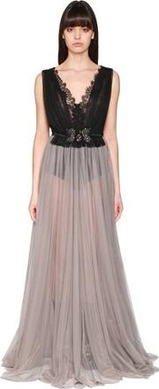 Tulle & Lace Long Dress