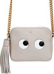 Eyes Leather Crossbody Bag