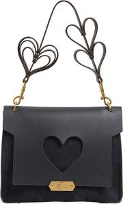 Xs Bathurst Heart Suede Satchel