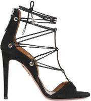 105mm Cayenne Lace Up Suede Sandals