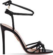 105mm Laura Tubular Leather Sandals