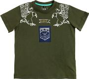Eagles Printed Cotton Jersey T Shirt
