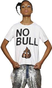 No Bull Sequined Cotton Top