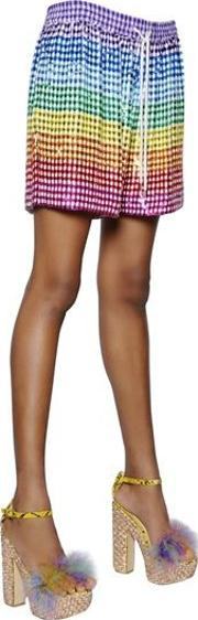 Sequined Silk Georgette Shorts