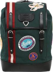 Canvas Backpack W Patches