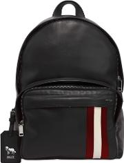 Leather Backpack W Stripes